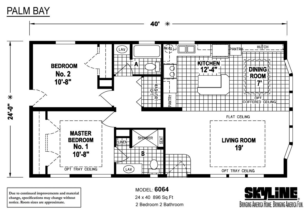 Floor Plan Layout: Palm Bay / 6064