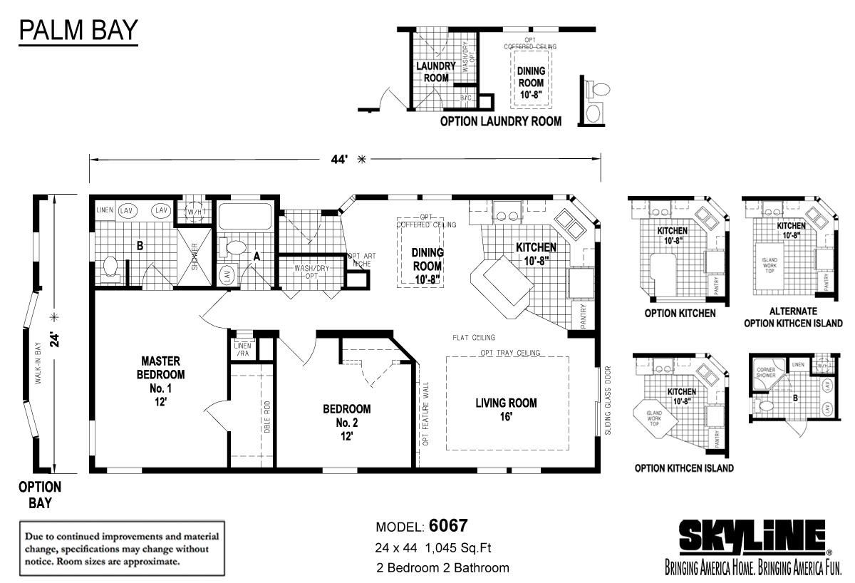 Floor Plan Layout: Palm Bay / 6067