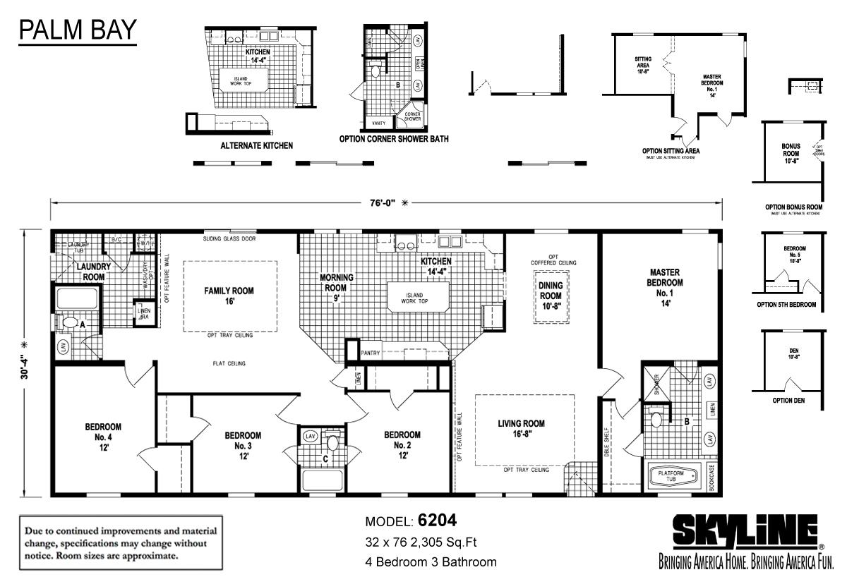 Floor Plan Layout: Palm Bay / 6204