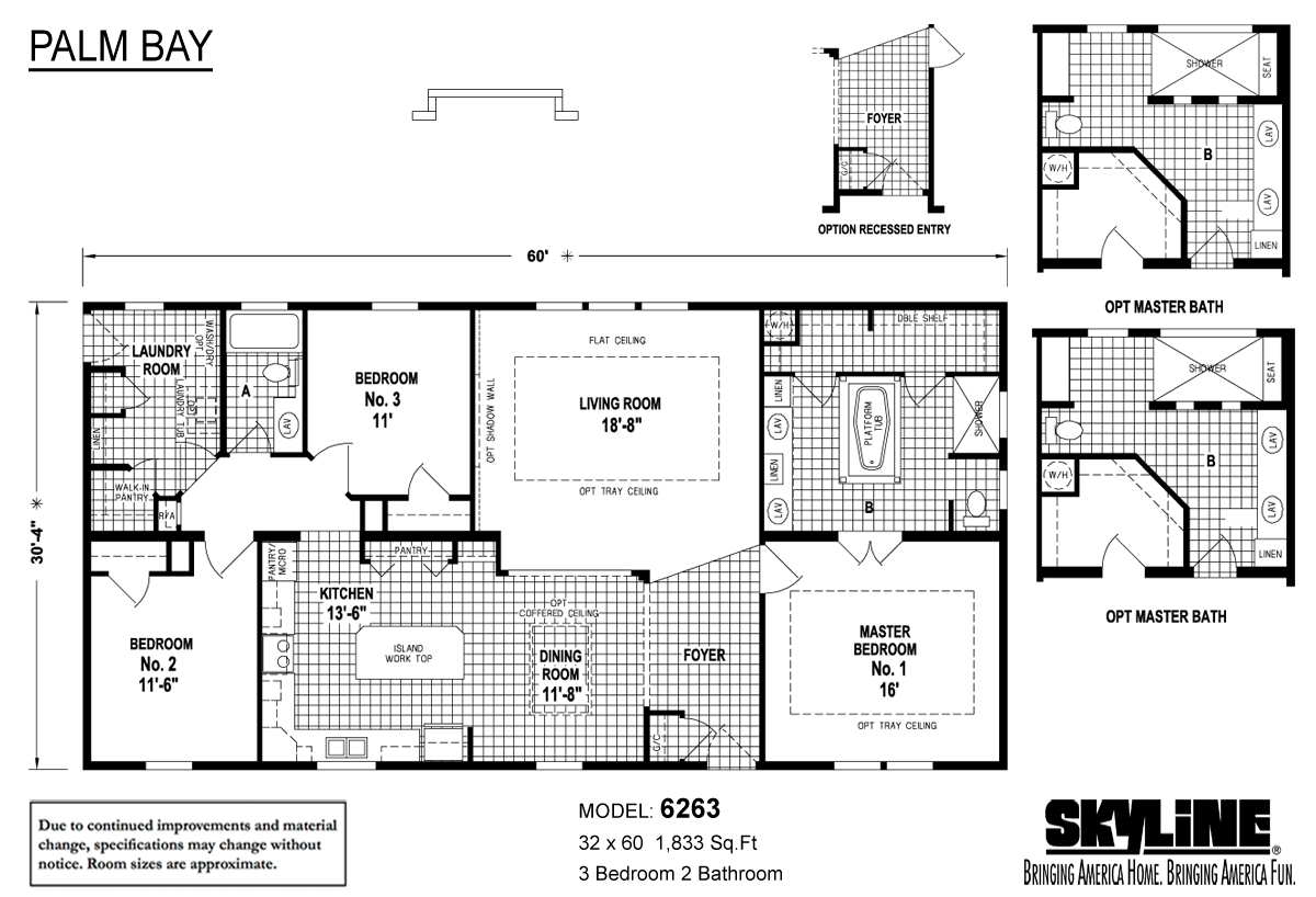 Floor Plan Layout: Palm Bay / 6263