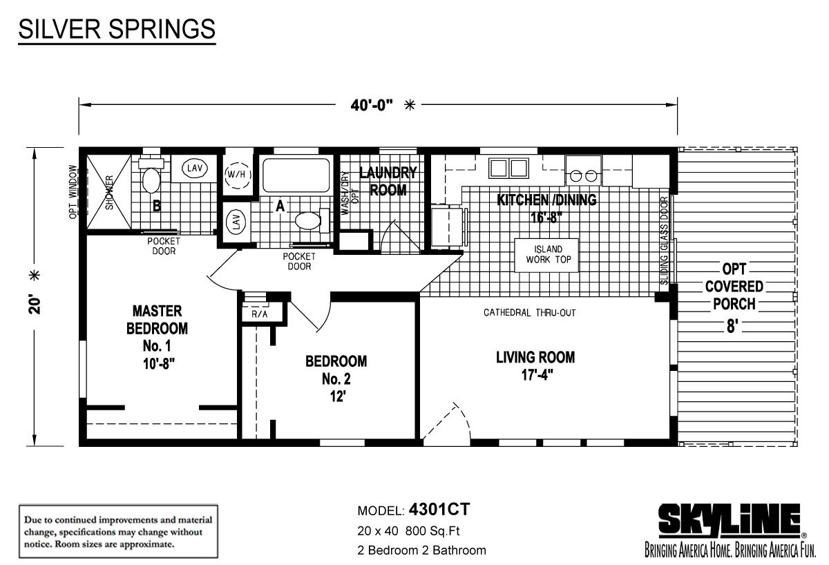Floor Plan Layout: Silver Springs / 4301-CT SC