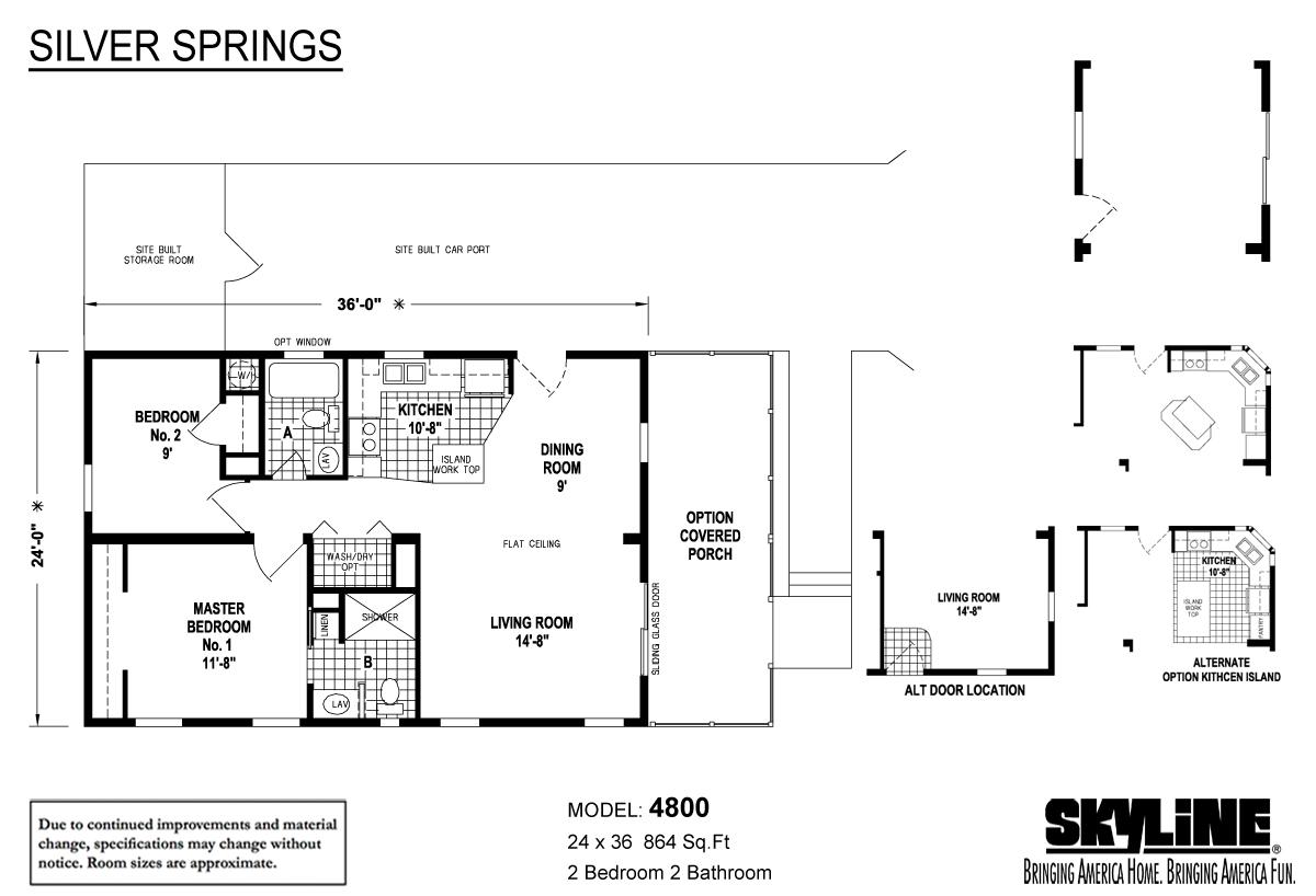 Floor Plan Layout: Silver Springs / 4800 SC