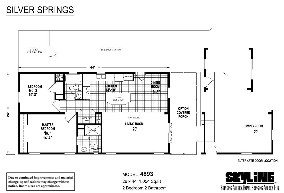 Floor Plan Layout: Silver Springs / 4893