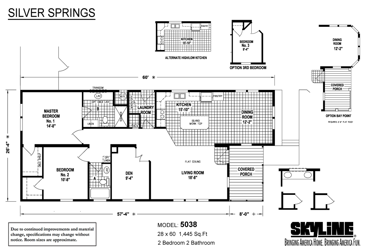 Floor Plan Layout: Silver Springs / 5038