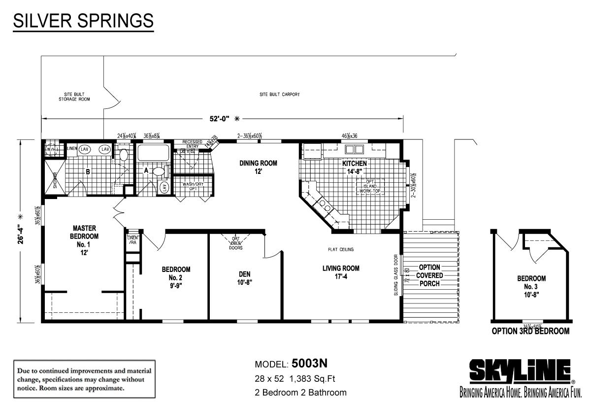 Floor Plan Layout: Silver Springs / 5003N