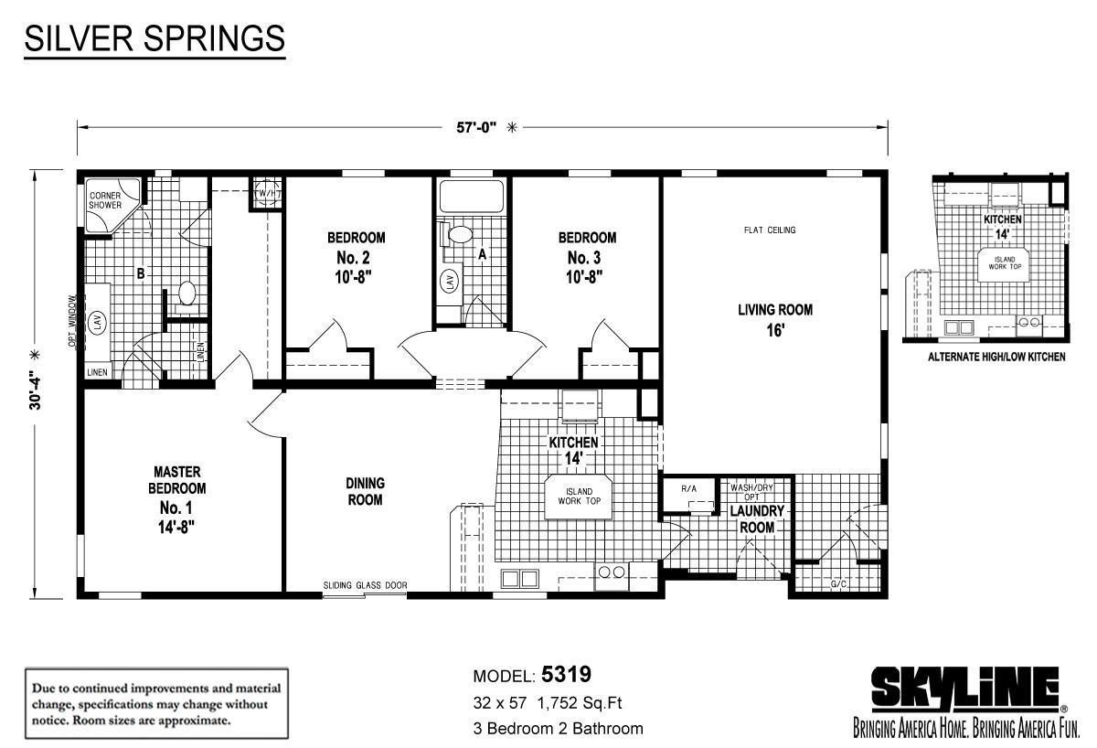 Floor Plan Layout: Silver Springs / 5319