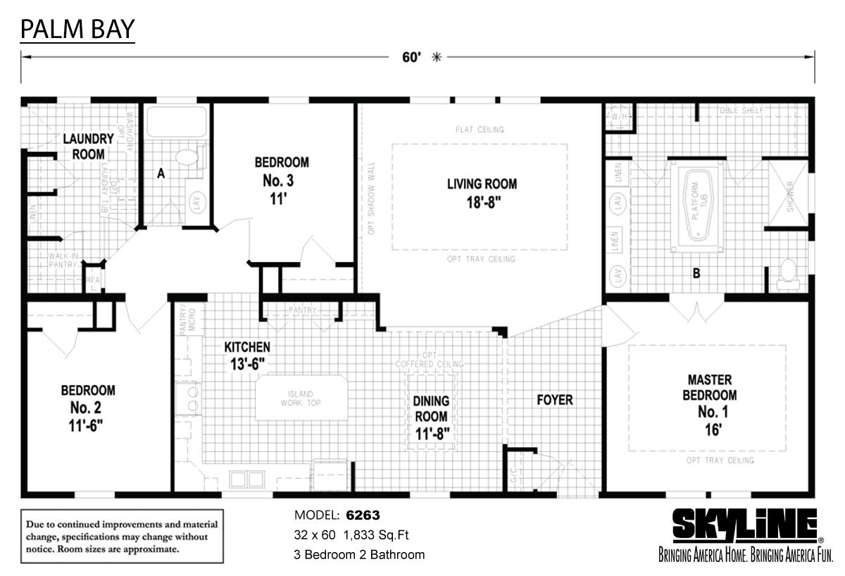 Floor Plan Layout: Palm Bay / 6263