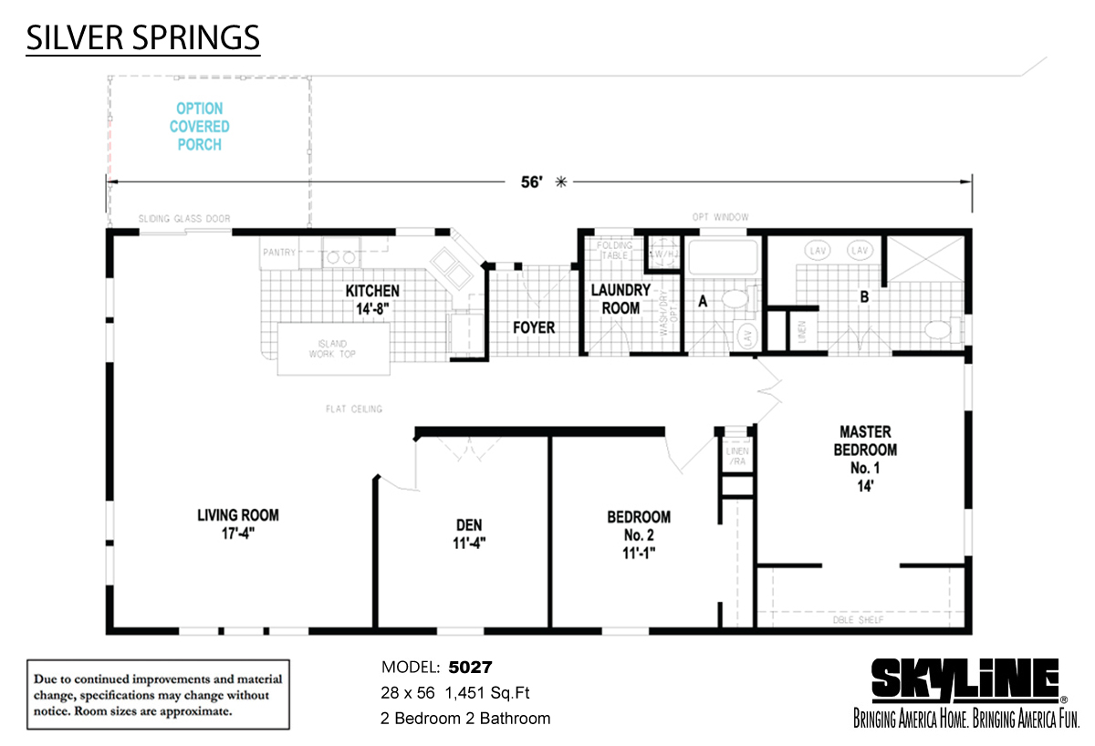 Floor Plan Layout: Silver Springs / 5027