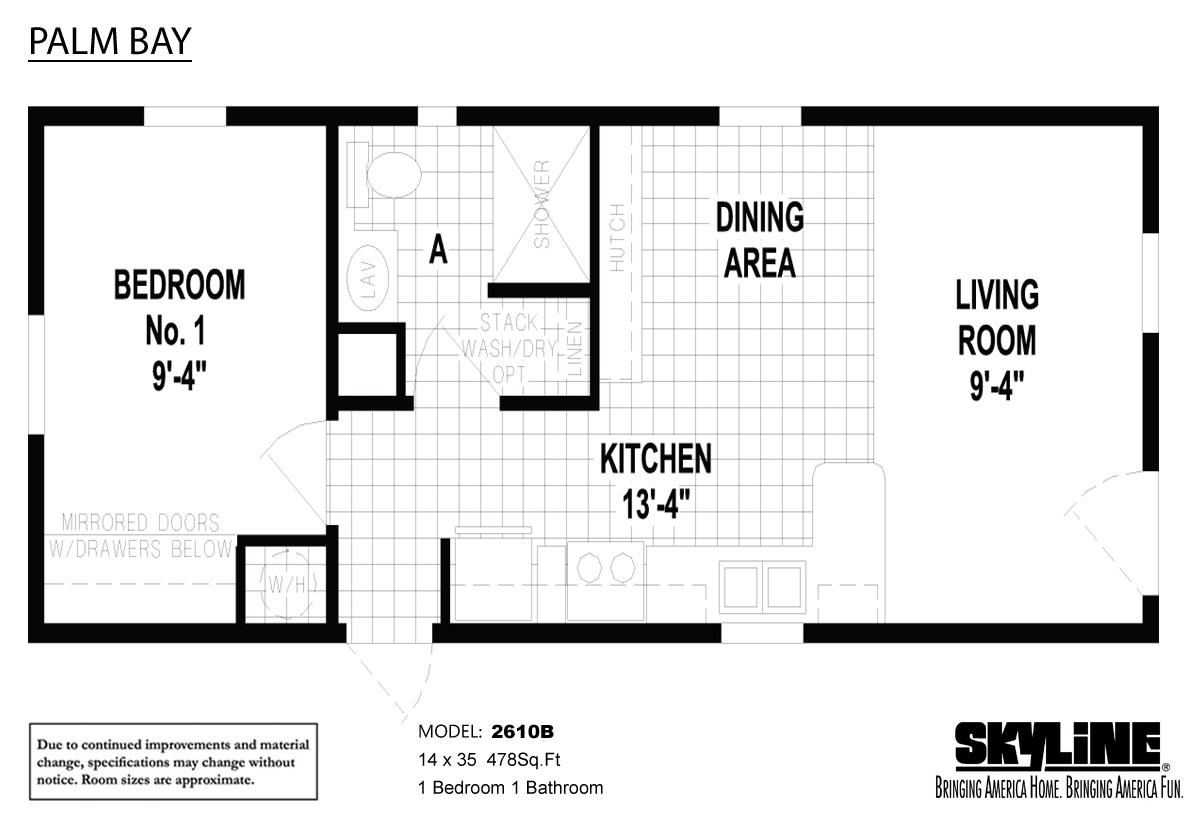 Floor Plan Layout: Palm Bay / 2610B