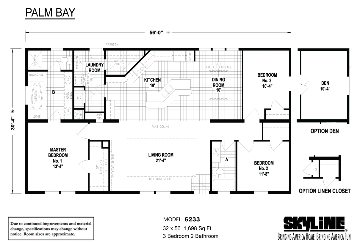 Floor Plan Layout: Palm Bay / 6233