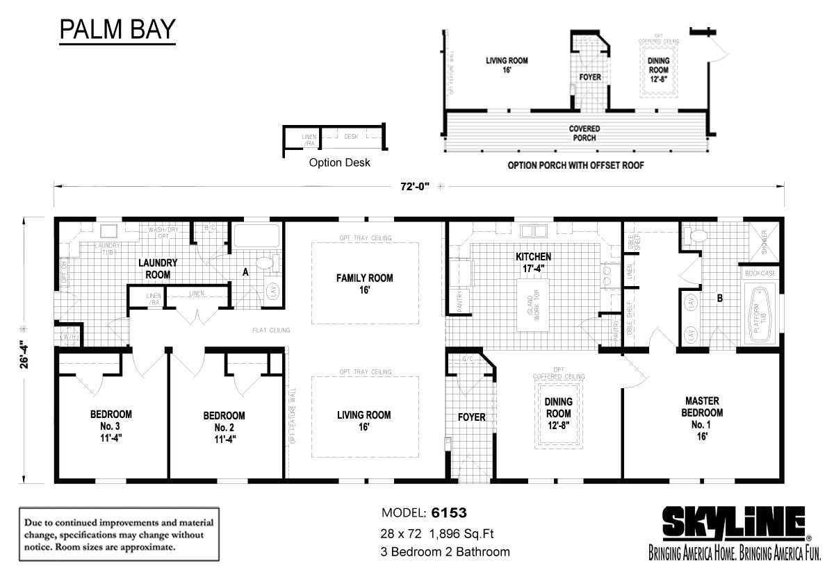 Floor Plan Layout: Palm Bay / 6153