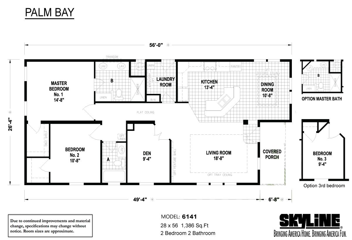 Floor Plan Layout: Palm Bay / 6141