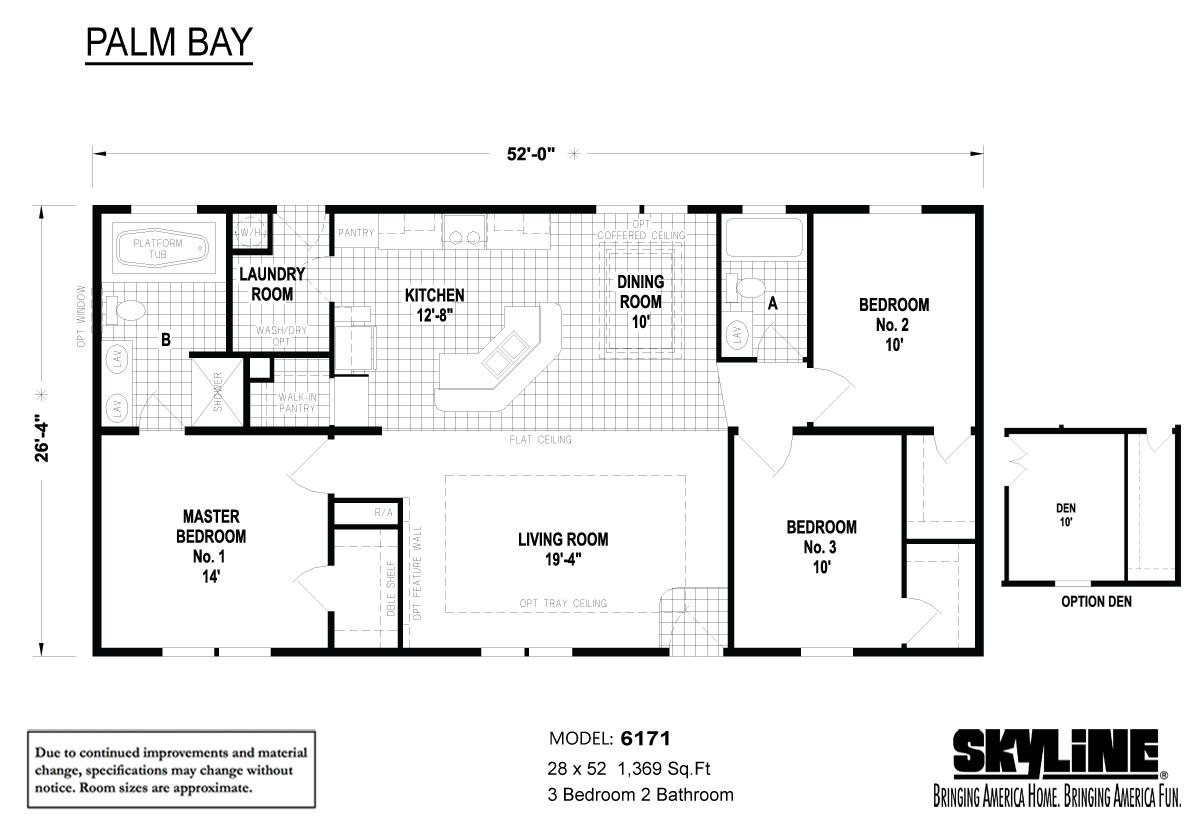 Floor Plan Layout: Palm Bay / 6171