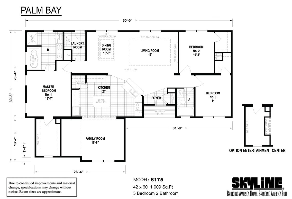 Floor Plan Layout: Palm Bay / 6175