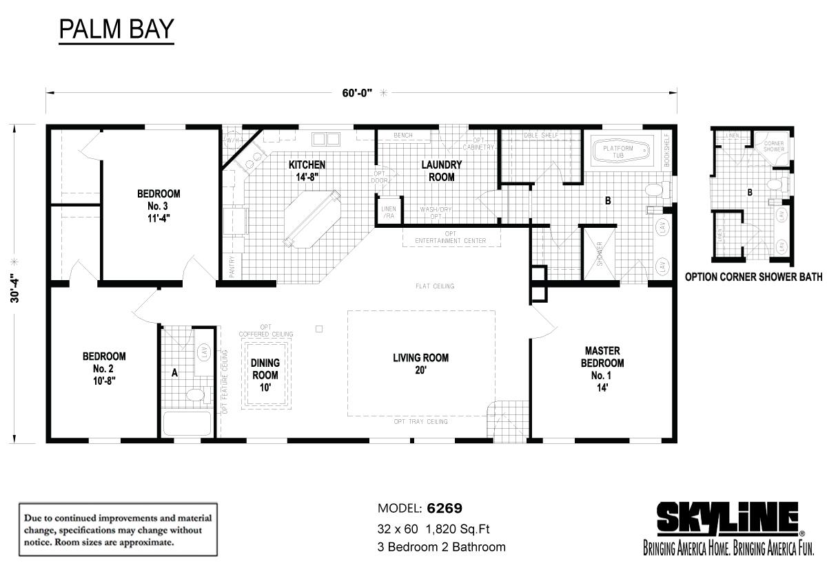Floor Plan Layout: Palm Bay / 6269