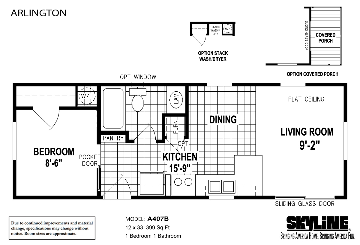 Floor Plan Layout: Arlington / A407B