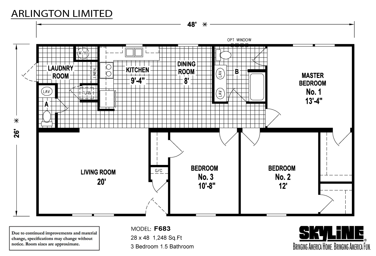 Floor Plan Layout: Arlington Limited / F683