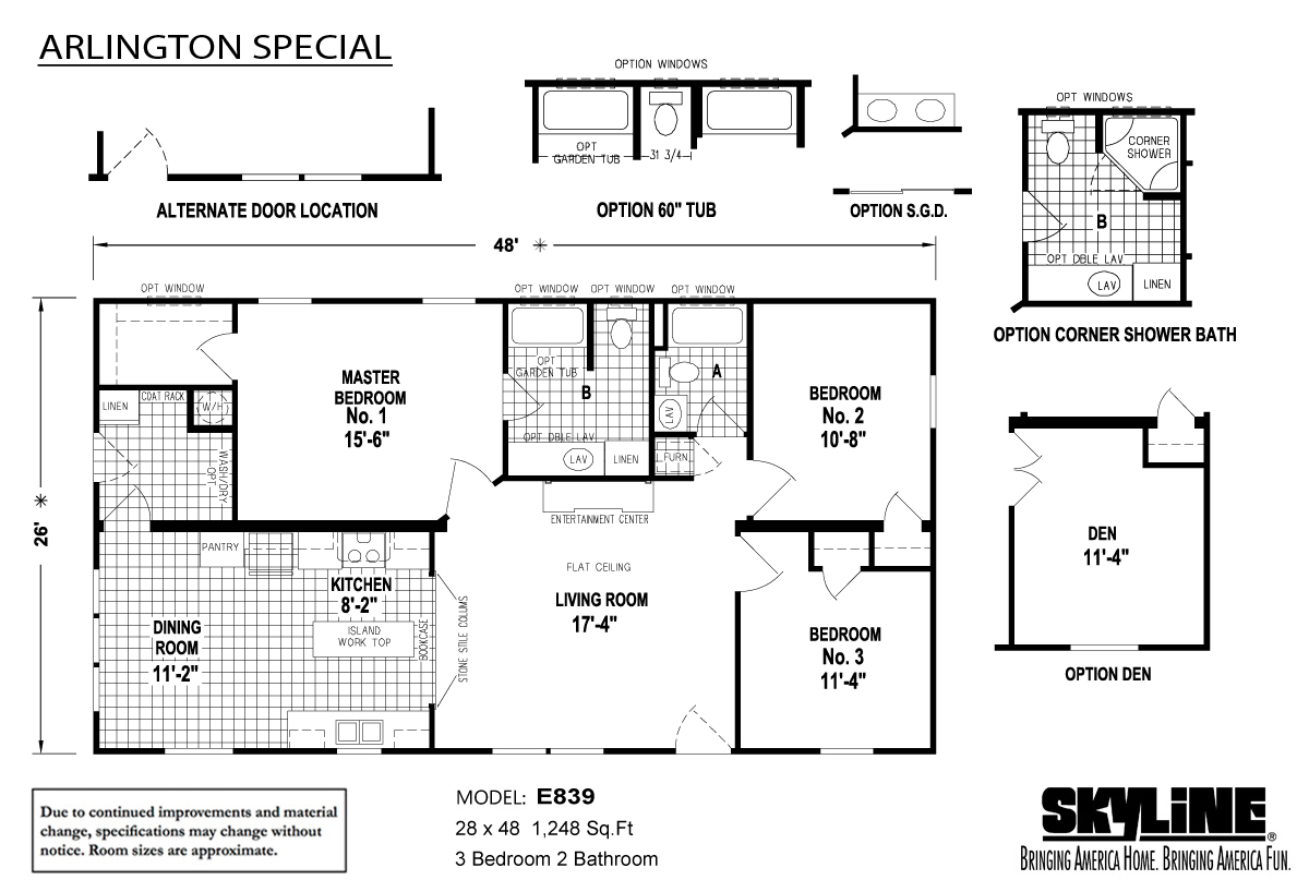 Floor Plan Layout: Arlington Special / E839
