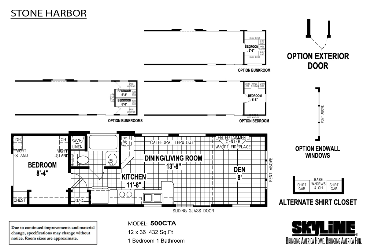 Floor Plan Layout: Stone Harbor Sugarcreek/500CTA