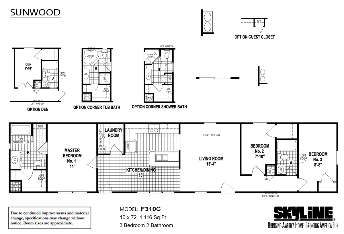Floor Plan Layout: Sunwood / F310C