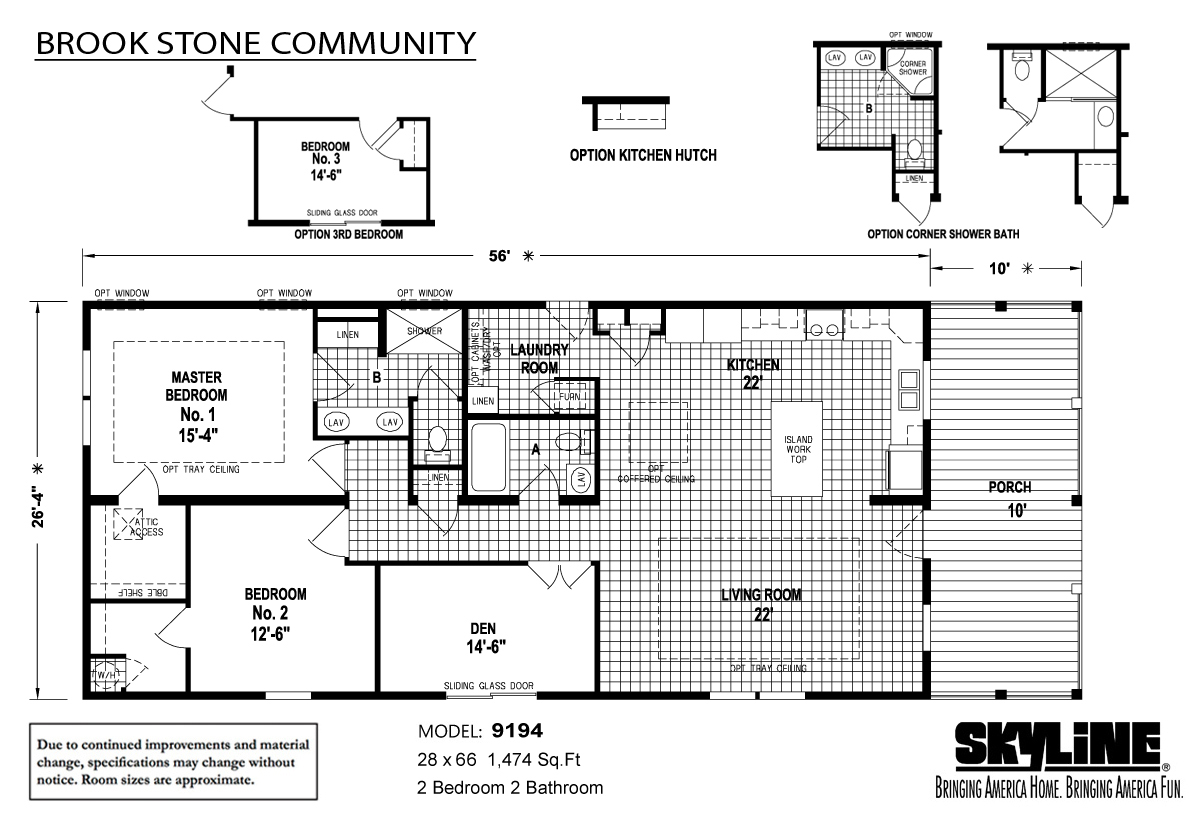 Floor Plan Layout: Brookstone Community / 9194E