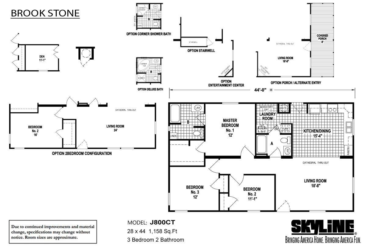 Floor Plan Layout: Brookstone / J800CT