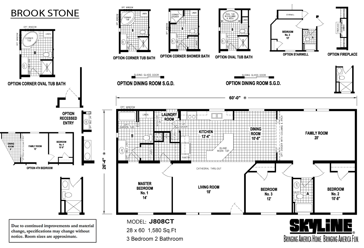 Floor Plan Layout: Brookstone / J808CT