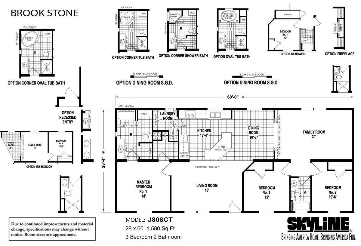 Floor Plan Layout: Brookstone / J808CT