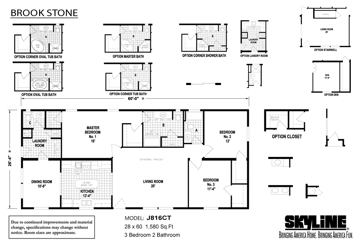 Floor Plan Layout: Brookstone / J816CT