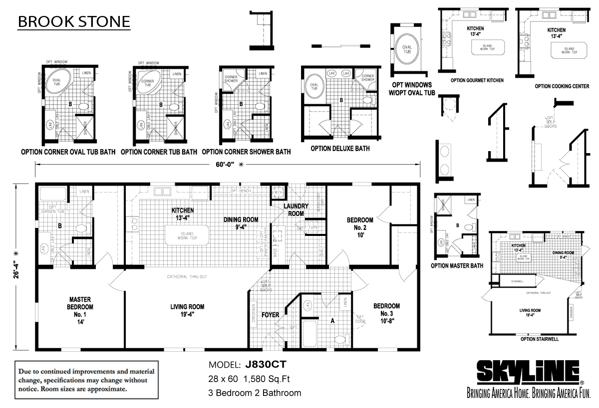 Floor Plan Layout: Brookstone / J830CT