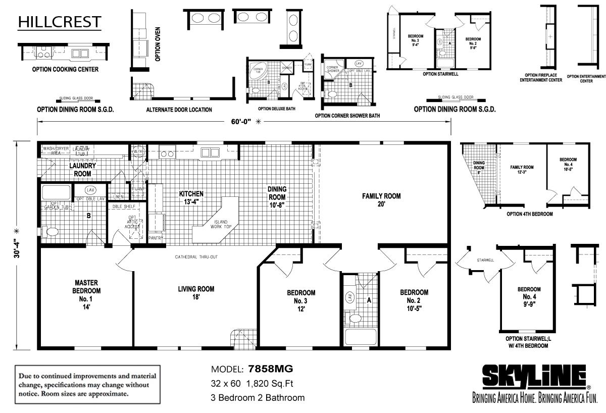 Floor Plan Layout: Hillcrest / 7858MG