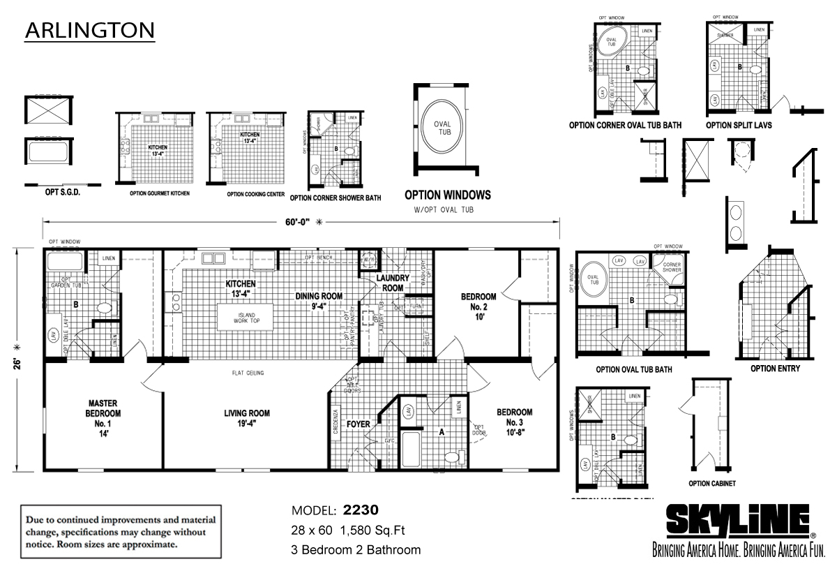 Floor Plan Layout: Arlington / 2230
