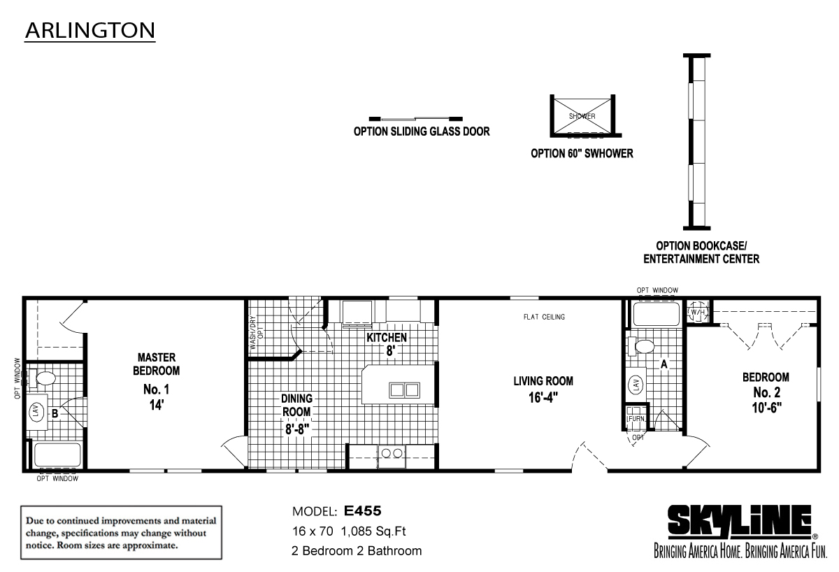 Floor Plan Layout: Arlington / E455