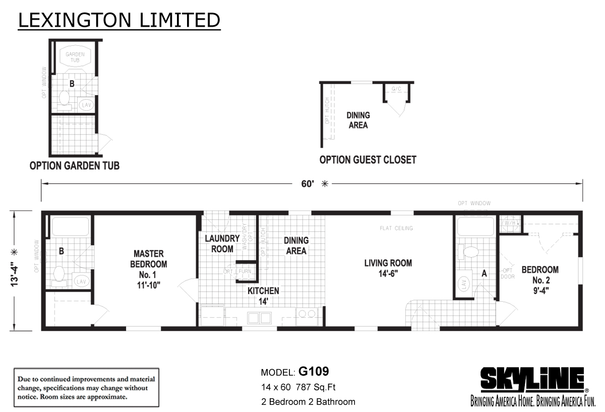 Floor Plan Layout: Lexington Limited / G109
