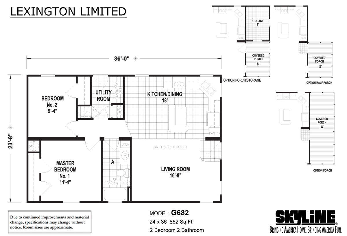 Floor Plan Layout: Lexington Limited / G682