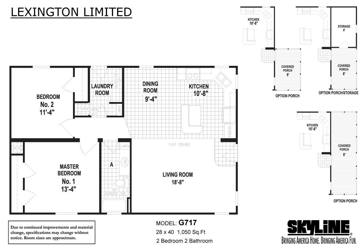 Floor Plan Layout: Lexington Limited / G717