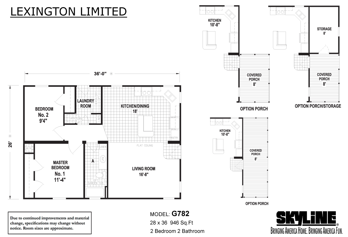 Floor Plan Layout: Lexington Limited / G782
