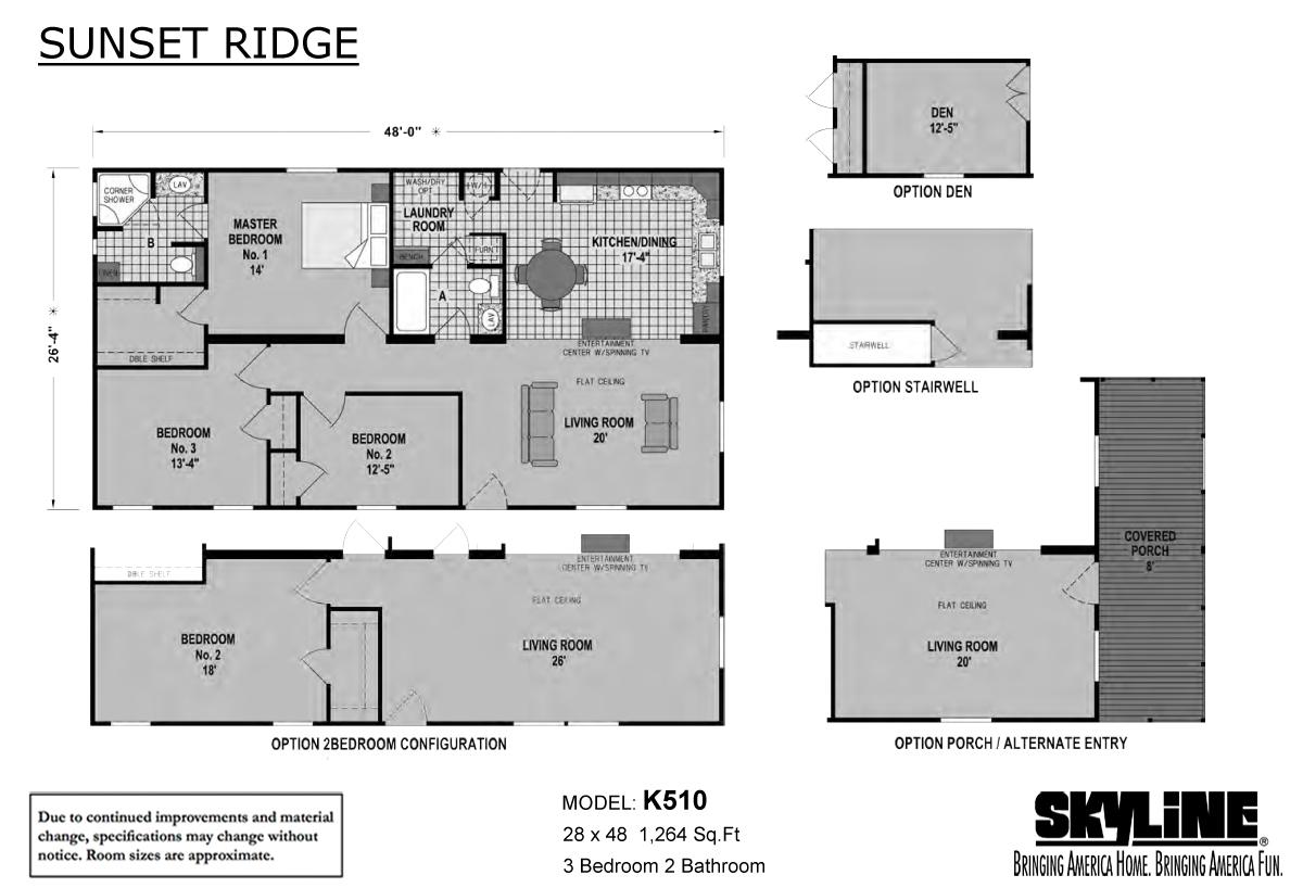 Floor Plan Layout: Sunset Ridge / K510