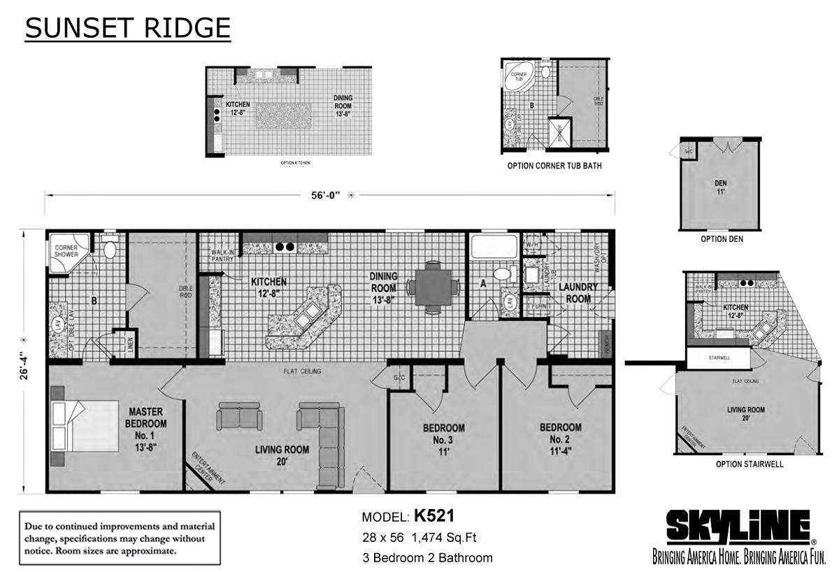 Sunset ridge k521 home by boone 39 s mobile estates inc for 521 plan