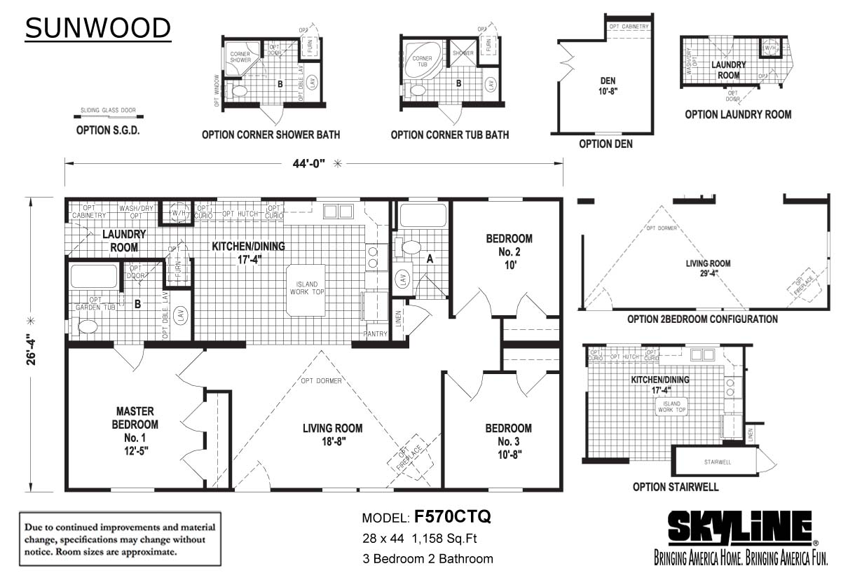 Floor Plan Layout: Sunwood/F570CTQ