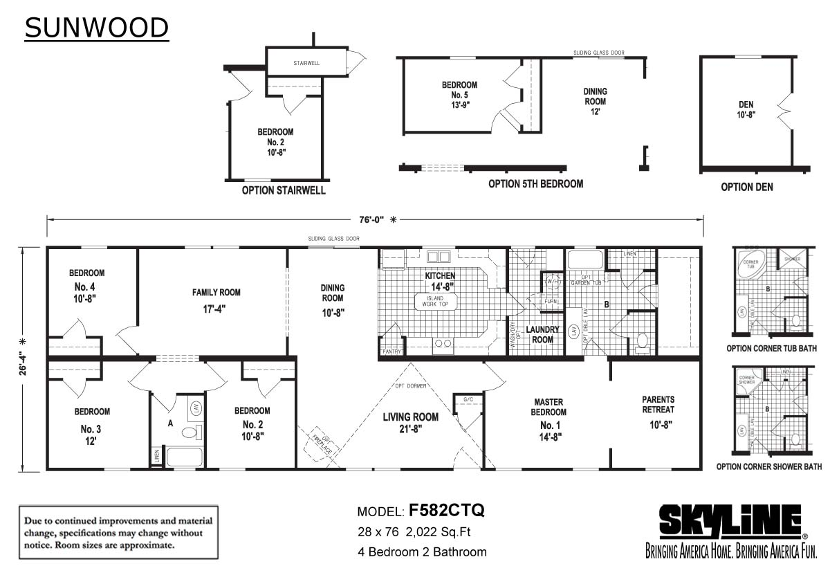 Floor Plan Layout: Sunwood/F582CTQ
