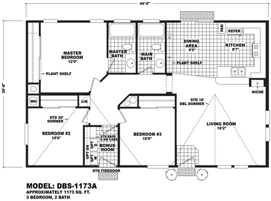 Floor Plan Layout: Builder / DBS-1173A