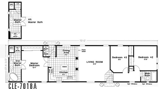 Floor Plan Layout: CLE Single-Section / CLE-7018A