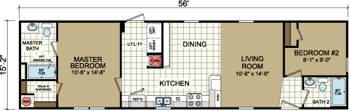 Floor Plan Layout: Advantage / 1660-205