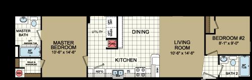 Floor Plan Layout: Advantage / 1660-205