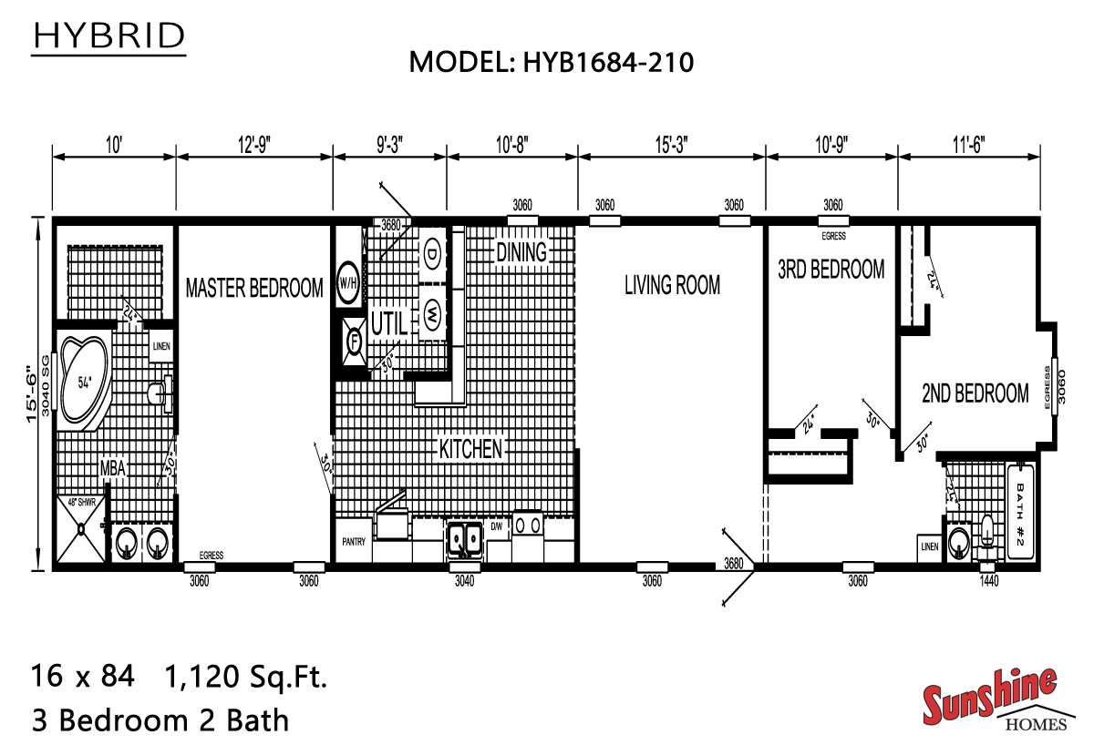 Floor Plan Layout: Hybrid / HYB1684-210