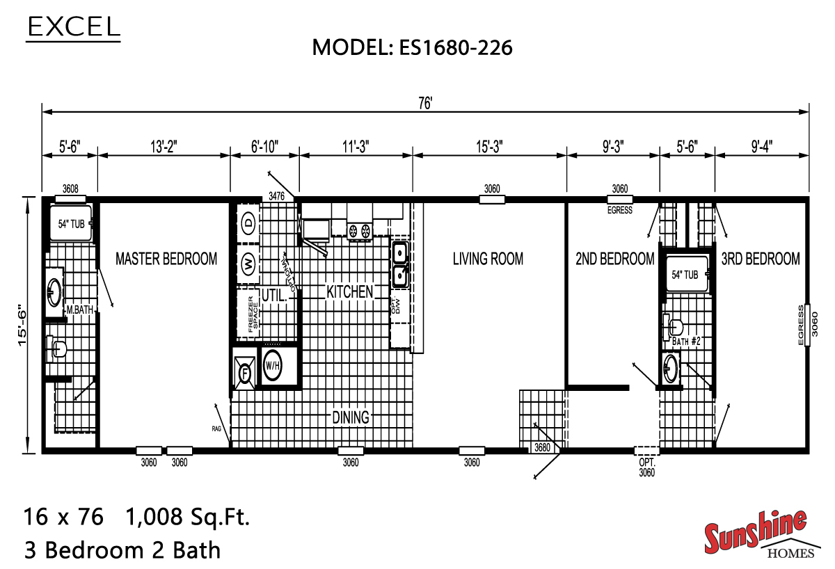 Floor Plan Layout: Excel / ES1680-226