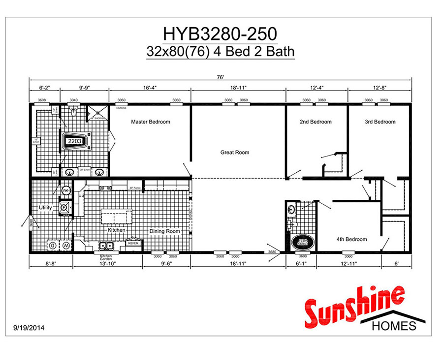 Hybrid hyb3280 250 home by new castle homes for Castle modular homes