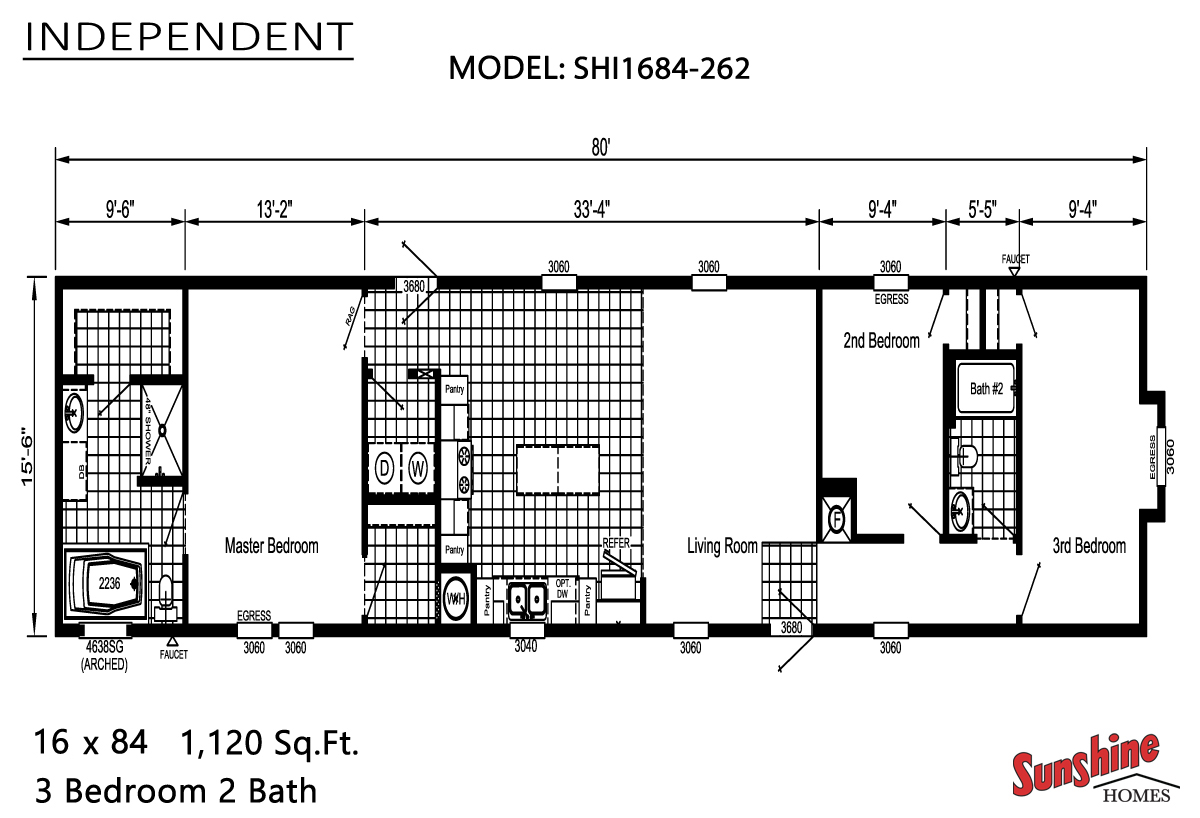 Floor Plan Layout: Independent / SHI1684-262