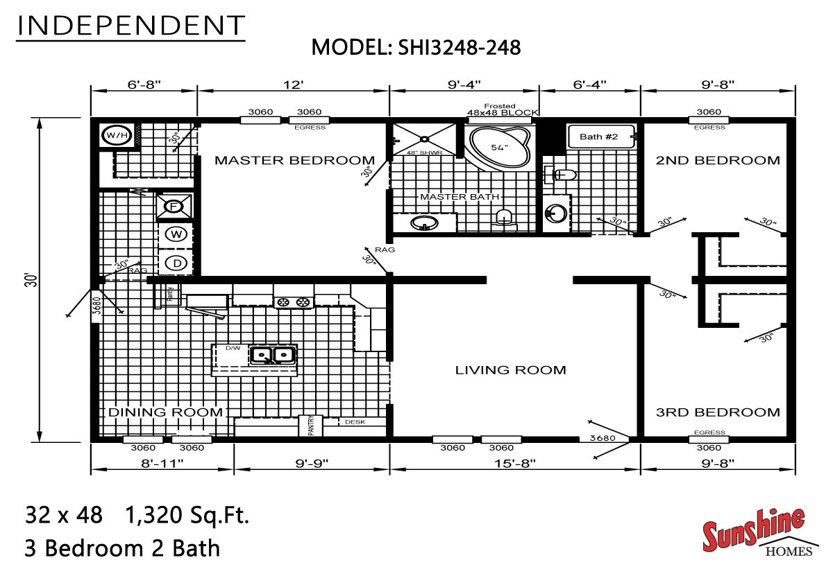 Floor Plan Layout: Independent / SHI3248-248